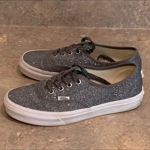 Vans Sparkly Silver/Grey w Matching Laces